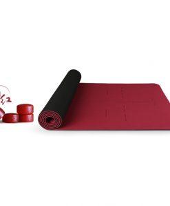 Thảm tập Yoga cao cấp Hatha màu đỏ đun