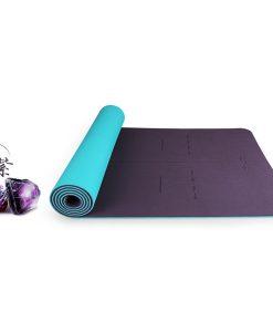 Thảm tập Yoga Hatha cao cấp màu tím than