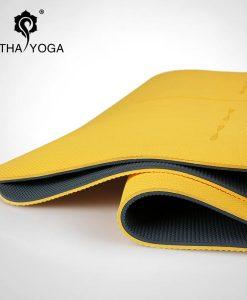 Thảm tập Yoga cao cấp Hatha màu vàng
