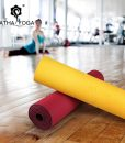 Thảm tập Yoga cao cấp Hatha màu vàng – đỏ