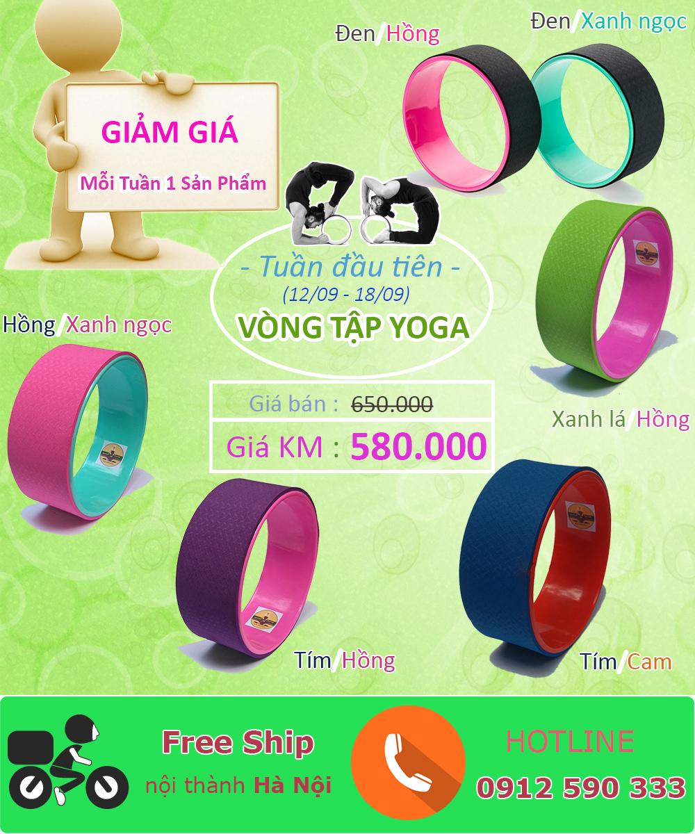 Khuyến mãi tuần đầu tiên (12/09 - 18/09) - Giảm giá vòng tập Yoga