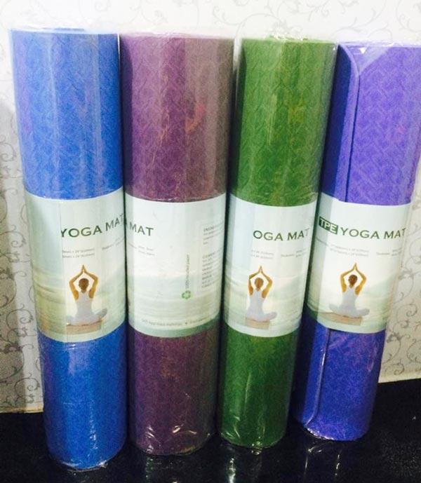 Thảm tập Yoga TPE Đài Loan 1 lớp 6mm