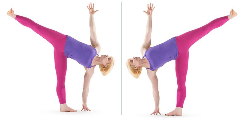 4 tư thế Yoga cho vòng eo gợi cảm - Tư thế nửa vầng trăng