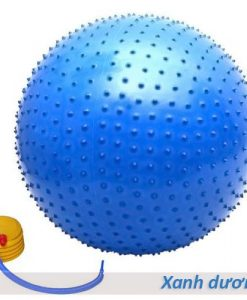 Bóng tập Yoga/Gym có gai massage 65cm, 75cm - Màu xanh dương