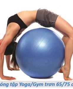 Bóng tập yoga/gym Đài Loan trơn 65cm/75cm