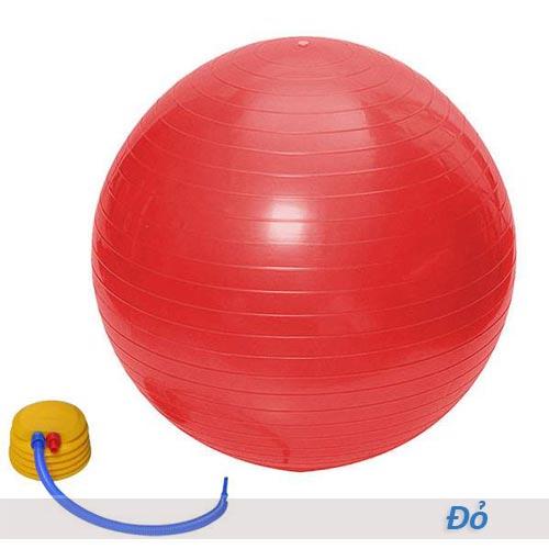 Bóng tập yoga/gym Đài Loan trơn 65cm/75cm - Màu đỏ