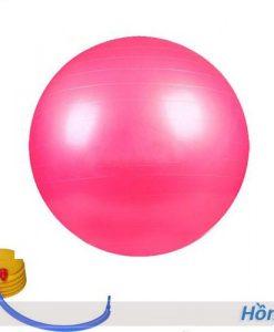 Bóng tập yoga/gym Đài Loan trơn 65cm/75cm - Màu hồng