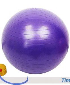 Bóng tập yoga/gym Đài Loan trơn 65cm/75cm - Màu tím