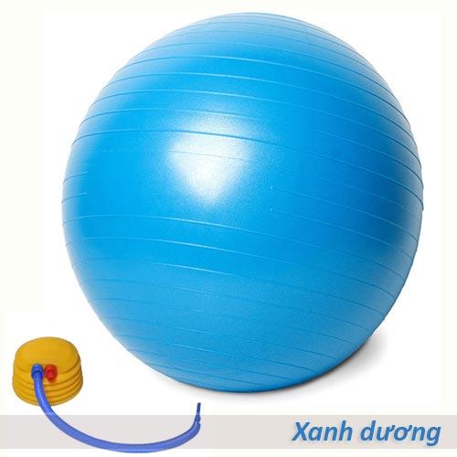 Bóng tập yoga/gym Đài Loan trơn 65cm/75cm - Màu xanh dương