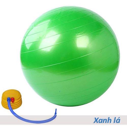 Bóng tập yoga/gym Đài Loan trơn 65cm/75cm - Màu xanh lá