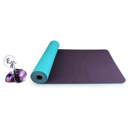 Thảm tập yoga định tuyến Hatha - Tím nho