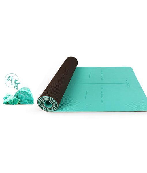Thảm tập yoga định tuyến Hatha - Xanh ngọc