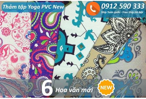Thảm tập Yoga PVC hoa văn new 2017