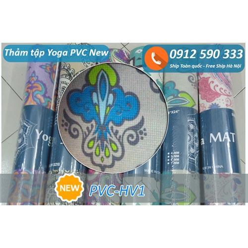 Thảm tập Yoga PVC hoa văn new 2017 - Hoa văn 1