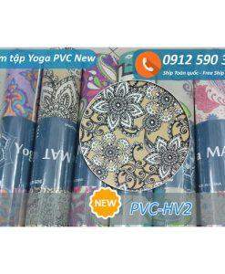 Thảm tập Yoga PVC hoa văn new 2017 - Hoa văn 2