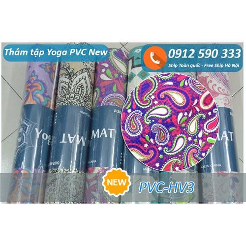 Thảm tập Yoga PVC hoa văn new 2017 - Hoa văn 3