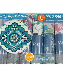 Thảm tập Yoga PVC hoa văn new 2017 - Hoa văn 4