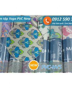 Thảm tập Yoga PVC hoa văn new 2017 - Hoa văn 5