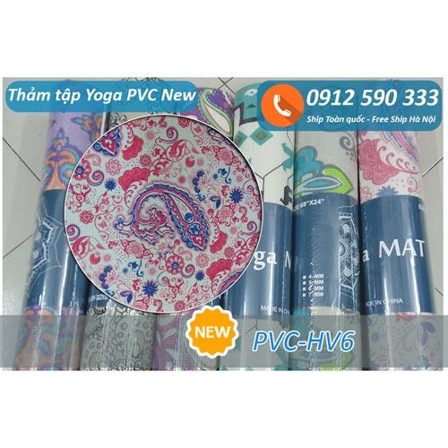 Thảm tập Yoga PVC hoa văn new 2017 - Hoa văn 6