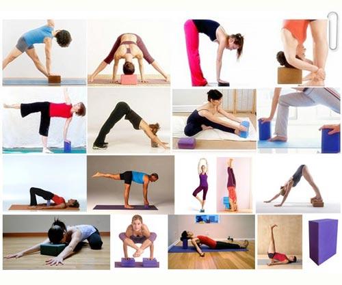 Một số bài tập với gạch/gối tập yoga