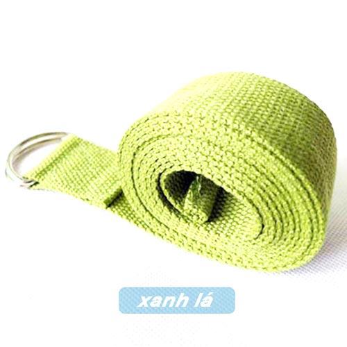 Dây đai hỗ trợ tập yoga sợi cotton - Xanh lá