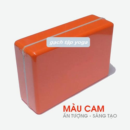 Gạch/gối tập yoga Đài Loan - Cam