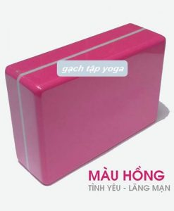 Gạch/gối tập yoga Đài Loan - Hồng