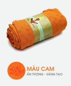 Khăn trải thảm tập yoga cao su non - Màu cam