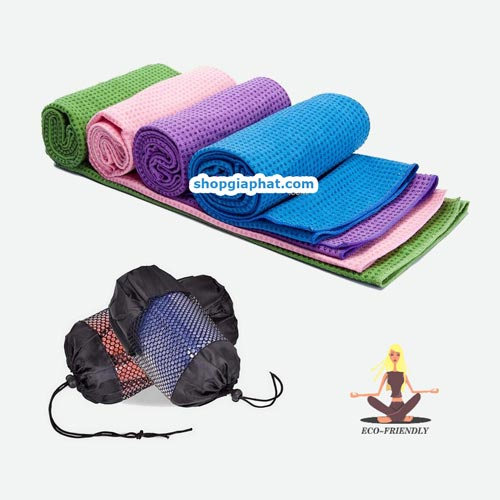 Khăn trải thảm tập yoga Silicon