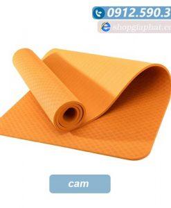 Thảm tập yoga đài loan TPE 6mm 1 lớp - Cam