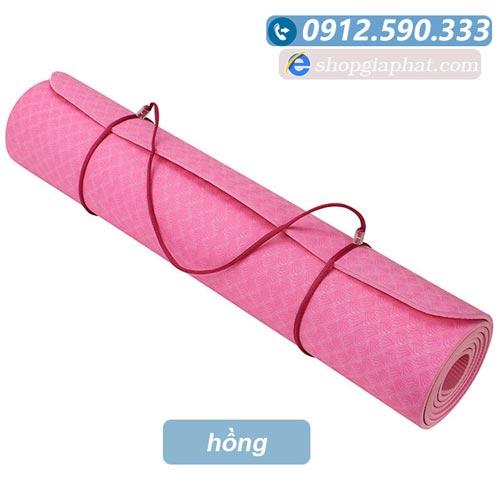 Thảm tập yoga đài loan TPE 6mm 1 lớp - Hồng