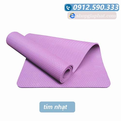 Thảm tập yoga đài loan TPE 6mm 1 lớp - Tím nhạt