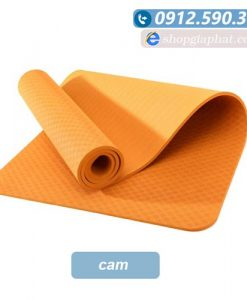Thảm tập yoga TPE 8mm 1 lớp - Cam