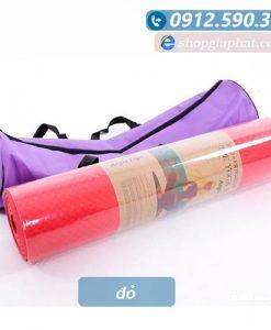 Thảm tập yoga TPE 8mm 1 lớp - Đỏ