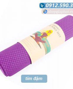 Thảm tập yoga TPE 8mm 1 lớp - Tím đậm