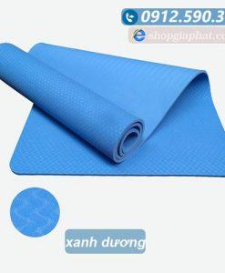 Thảm tập yoga TPE 8mm 1 lớp - Xanh dương