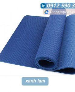 Thảm tập yoga TPE 8mm 1 lớp - Xanh lam