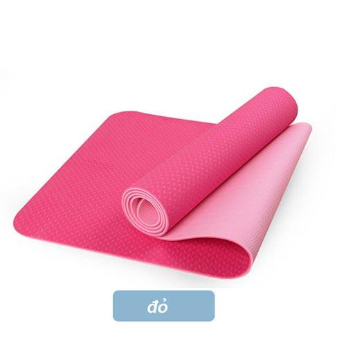 Thảm tập yoga Đài Loan TPE 2 lớp 6mm - Đỏ