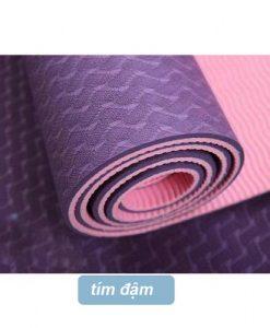 Thảm tập yoga Đài Loan TPE 2 lớp 6mm - Tím đậm
