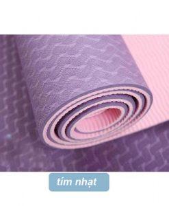 Thảm tập yoga Đài Loan TPE 2 lớp 6mm - Tím nhạt