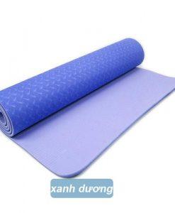 Thảm tập yoga Đài Loan TPE 2 lớp 6mm - Xanh dương