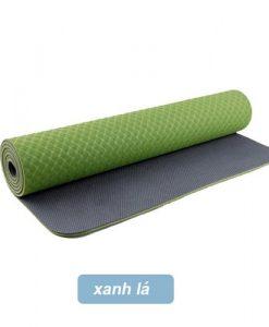 Thảm tập yoga Đài Loan TPE 2 lớp 6mm - Xanh lá