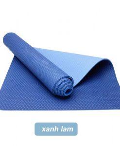 Thảm tập yoga Đài Loan TPE 2 lớp 6mm - Xanh lam