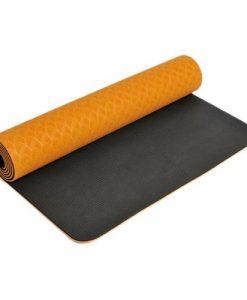 Thảm tập yoga Đài Loan TPE 2 lớp 6mm - Cam