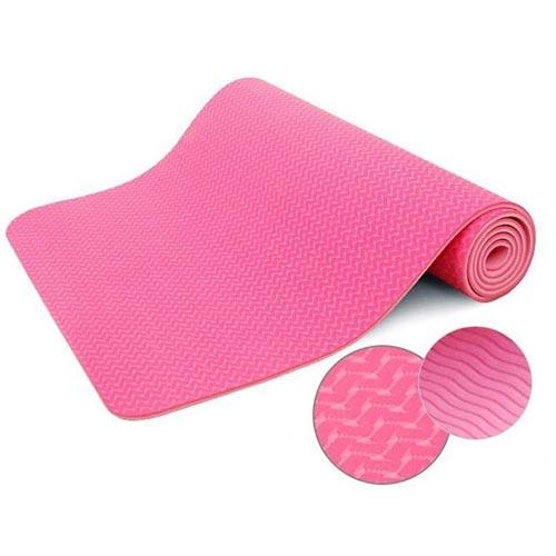 Thảm tập yoga Đài Loan TPE 2 lớp 6mm - Hồng