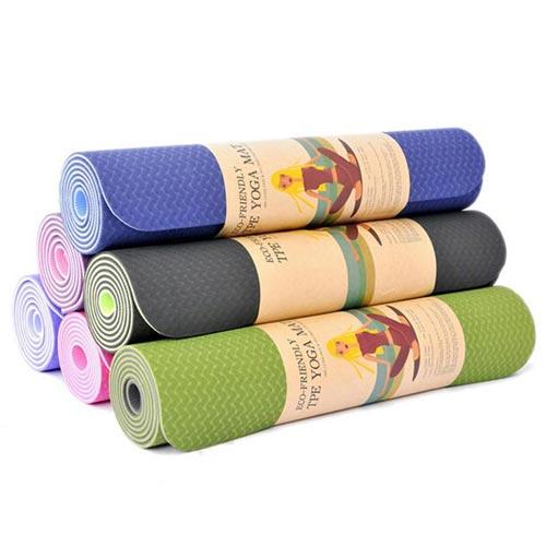 Thảm tập yoga Đài Loan TPE 2 lớp 6mm