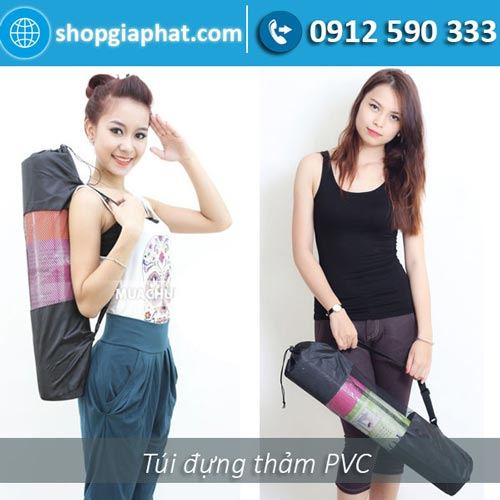 Túi đựng thảm tập Yoga PVC hoa văn new 2017