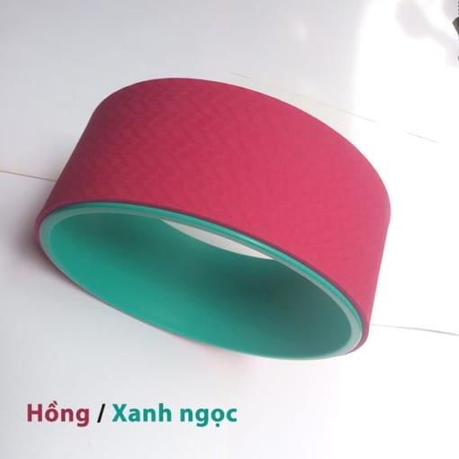 Vòng tập yoga nhựa ABS màu Hồng/Xanh ngọc