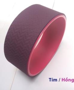 Vòng tập yoga nhựa ABS màu Tím đậm/Hồng