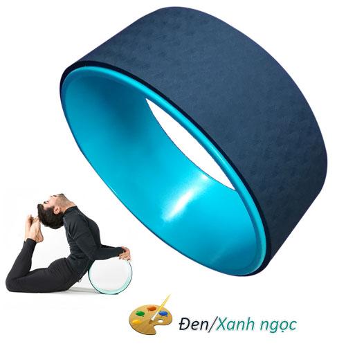 Vòng tập Yoga nhựa ABS Đài Loan - Đen/Xanh ngọc